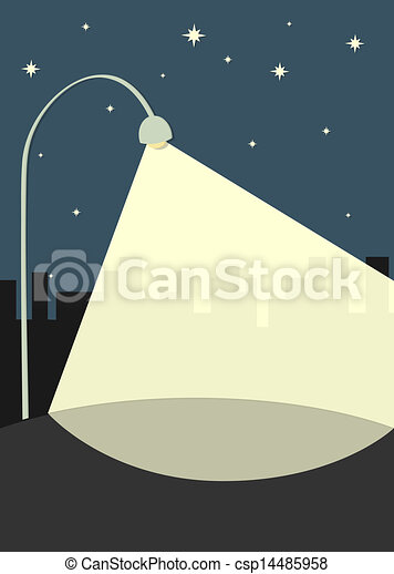 lampe, rue, illumine, trottoir - csp14485958
