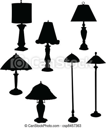 lampe, sammlung - csp8457363