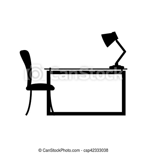lampe vue c t chaise bureau illustration lampe. Black Bedroom Furniture Sets. Home Design Ideas