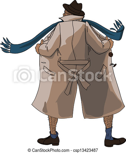 lampeggiatore, cappotto, sbottonato - csp13423487
