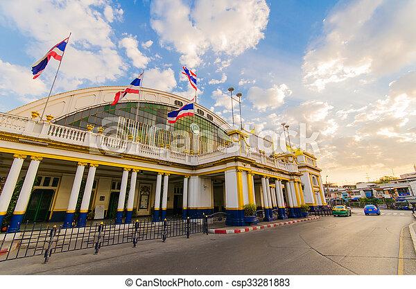 lamphong, σιδηροδρομικός σταθμός , hua - csp33281883