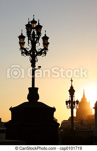 Lamppost in Moscow - csp0101719