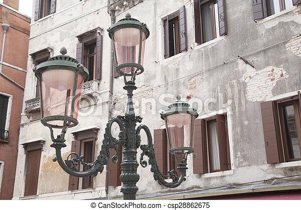 Lamppost in Square of Venice - csp28862675