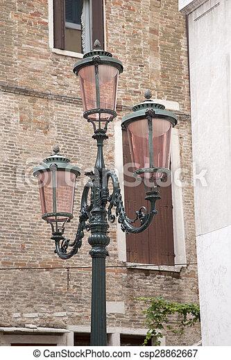 Lamppost in Square of Venice - csp28862667