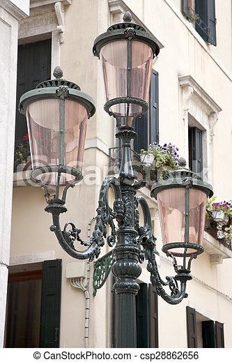 Lamppost in Square of Venice - csp28862656