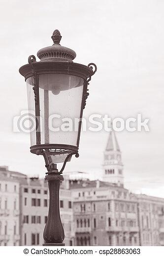Lamppost in Venice, Italy - csp28863063