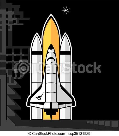lançadeira, espaço - csp35131829