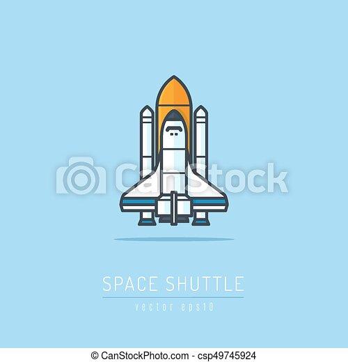 lançadeira, espaço - csp49745924