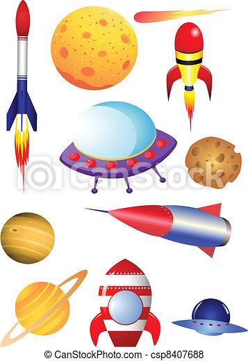 lançadeira, espaço - csp8407688