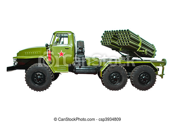 lançador móvel, grad, foguete - csp3934809