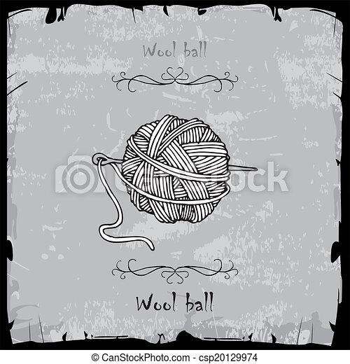 Bola de lana - csp20129974