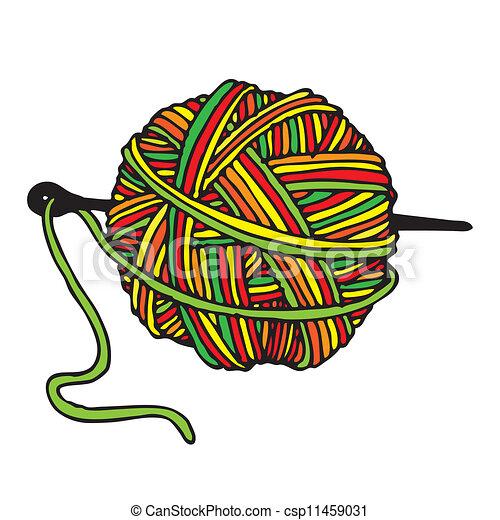 Bola de lana - csp11459031