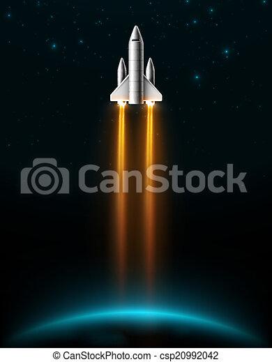 lancement fusée - csp20992042