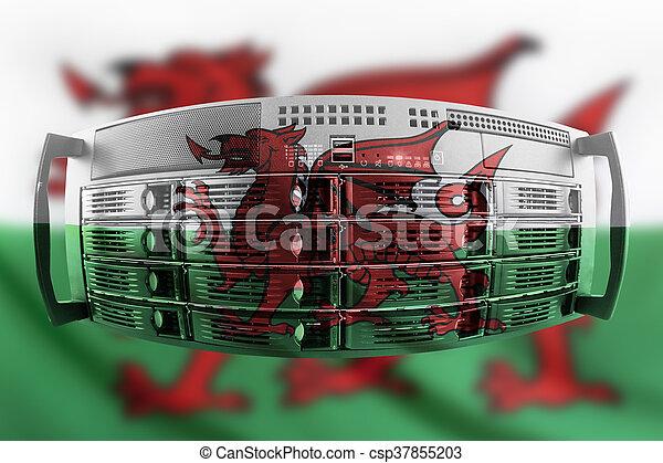 land, fahne, begriff, wales, server - csp37855203