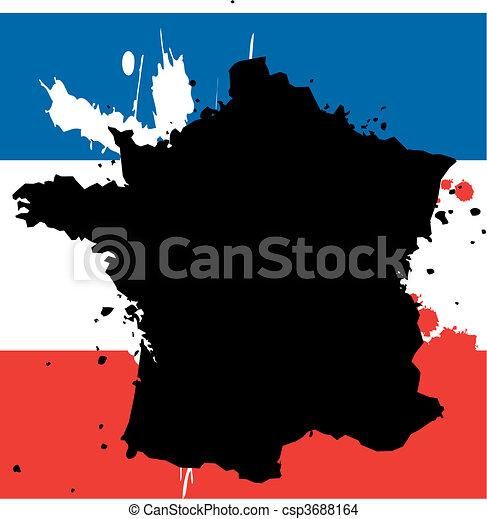 Land Fodra Grans Frankrike Grunge Land Flagga Frankrike Tillstand Fodra Grans Fyllt