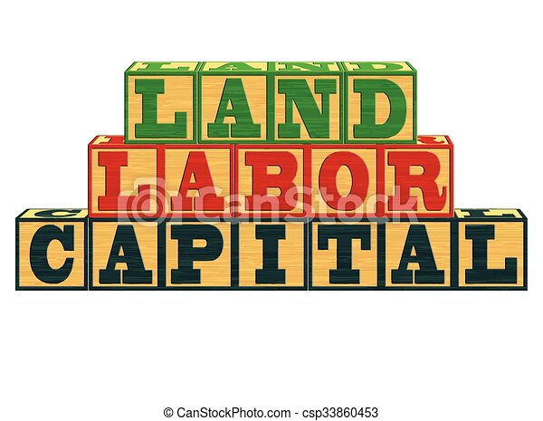 land labor and capital an illustration of factors of clipart rh canstockphoto com labor clipart labor day clipart black and white
