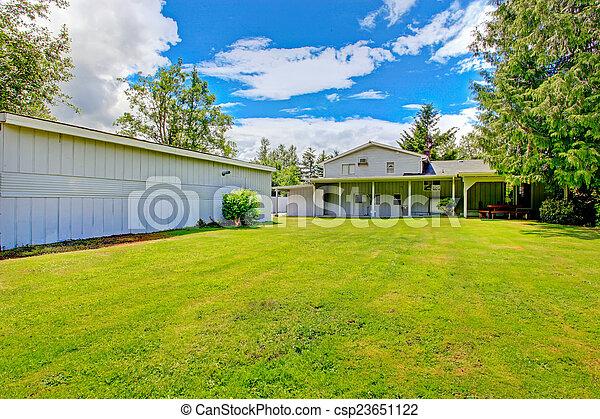 Land, Landschaft, Haus, Groß, Außen, Hinterhof   Csp23651122