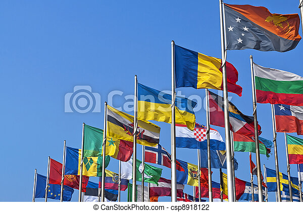 land, medborgare, flaggan, olik - csp8918122