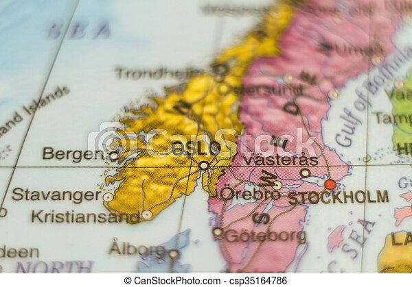 Karta Norge Stavanger.Land Norge Karta Oslo Karta Huvudstad Norge Foto