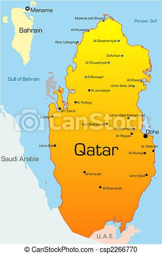 Land Qatar Karta Qatar Farg Land Abstrakt Vektor