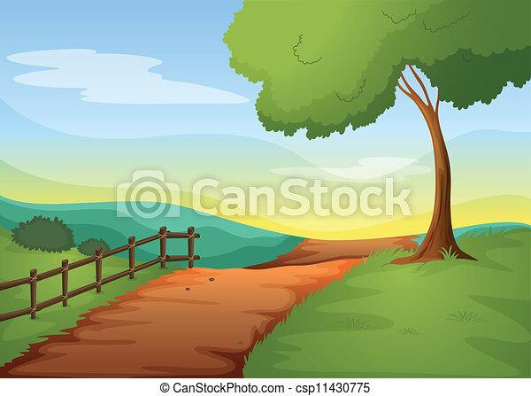 Un paisaje rural - csp11430775