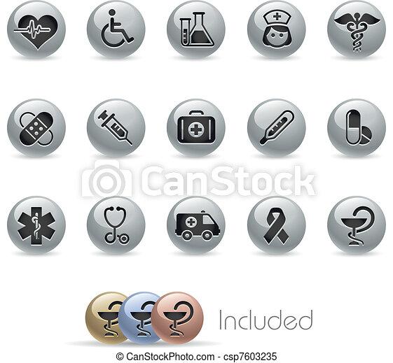 lande, /, métallique, soin, &, médecine - csp7603235