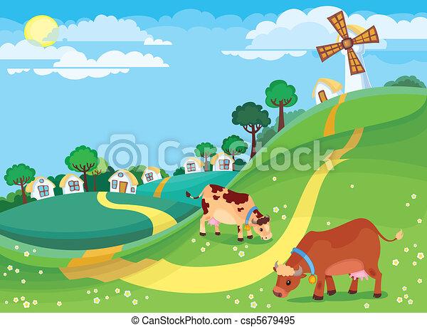 landelijk landschap - csp5679495