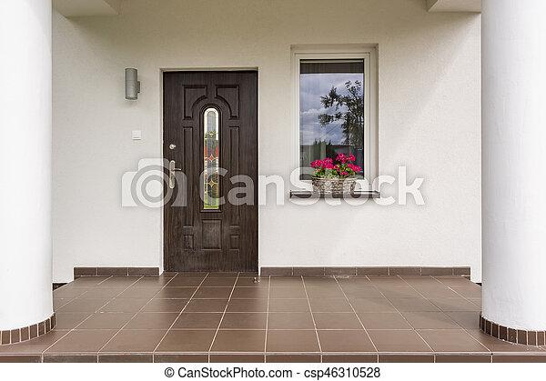 Landhaus Eingang landhaus eingang idee vorhallen eingang luxrious stockfoto