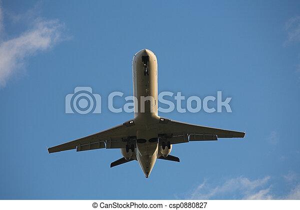 Landing airplane - csp0880827