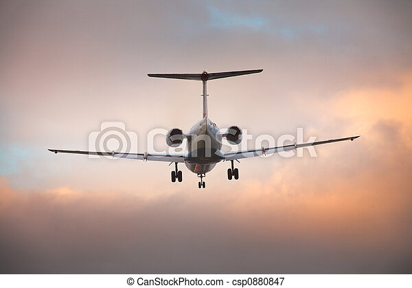 Landing airplane - csp0880847