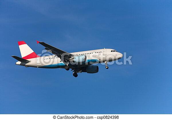 Landing airplane - csp0824398