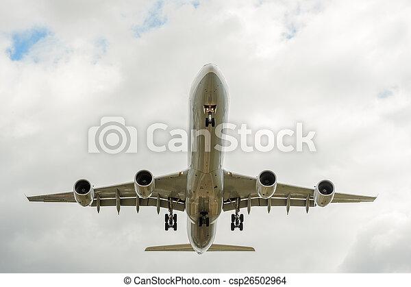 landing airplane - csp26502964