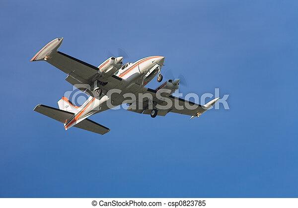 Landing airplane - csp0823785