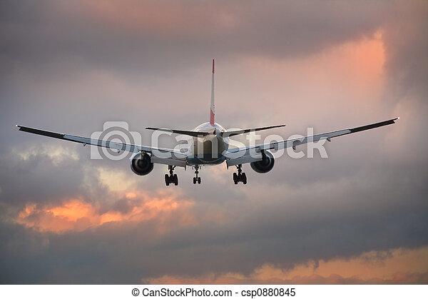 Landing airplane - csp0880845
