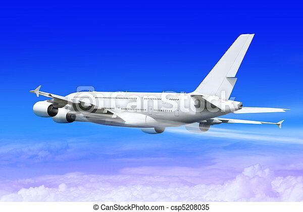 landing airplane - csp5208035