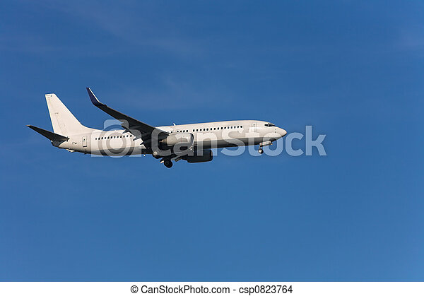 Landing airplane - csp0823764