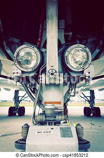Landing lights on gear