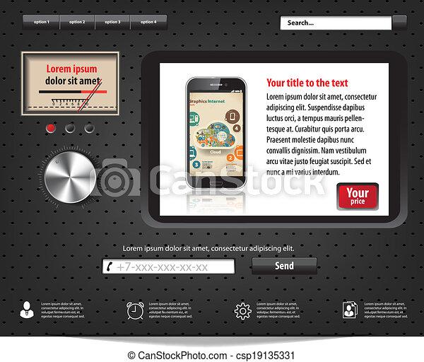 Porta Hi Fi Design.Landing Page In Hi Fi Equipment Design