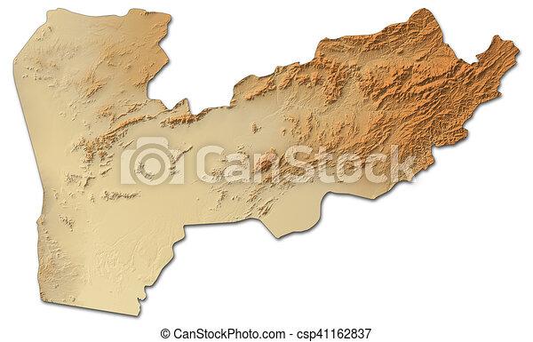 Karte Afghanistan Provinzen.Landkarte Afghanistan Farah Erleichterung 3d Rendering