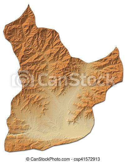 Karte Afghanistan Provinzen.Landkarte Afghanistan Laghman Erleichterung 3d Rendering