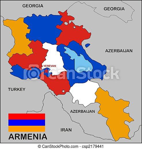 Armenien Karte.Landkarte Armenien
