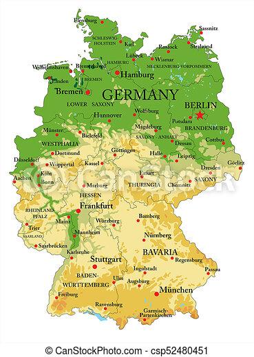 Land Karte Deutschland.Landkarte Deutschland Physisch