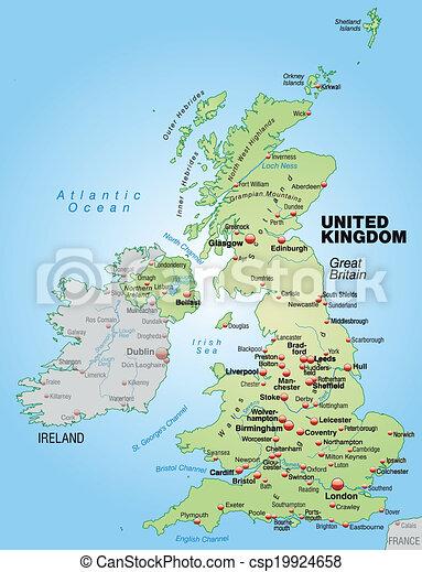 Uberblick Landkarte England Grun Pastell