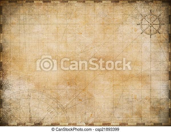 Alte Landkartenexploration und Abenteuer Hintergrund - csp21893399