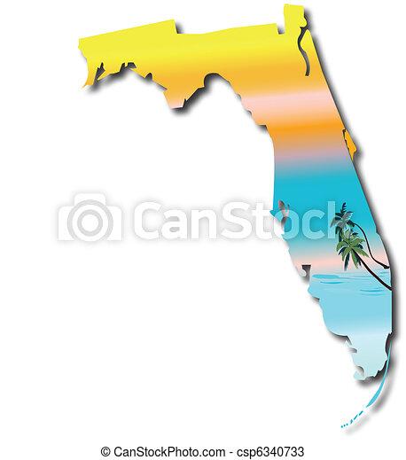 landkarte, florida - csp6340733