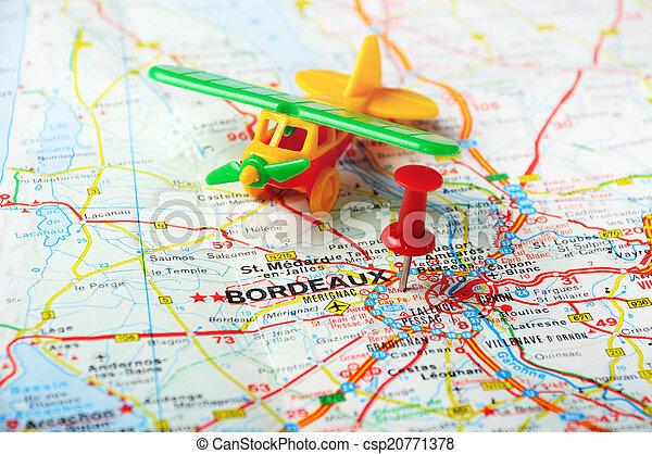 Bordeaux Flughafen Frankreich Red Push Pining Auf Bordeaux