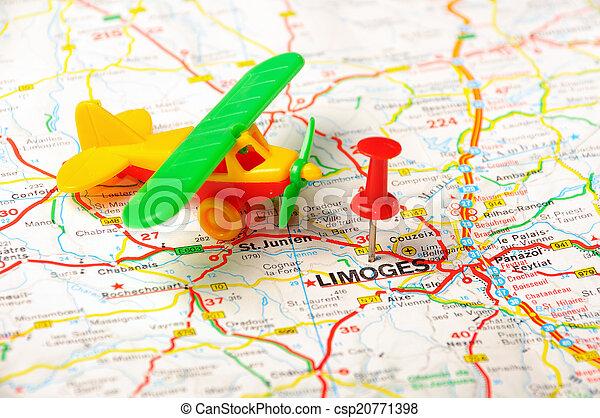 Limoges Flughafen Frankreich Roter Schiebepunkt In Limoges
