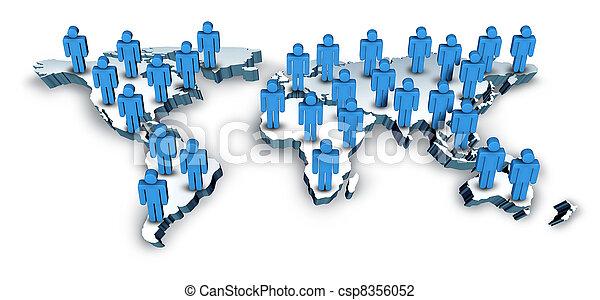 landkarte, global, welt, kommunikation - csp8356052