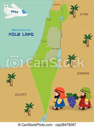 Landkarte israel altes testament