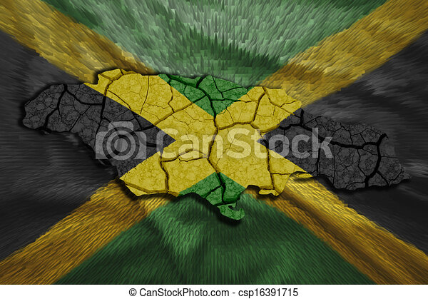 landkarte, jamaikanisch - csp16391715